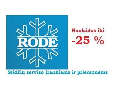 Gruodžio mėnesį - RODE slidžių serviso reikmenys ženkliai pigiau