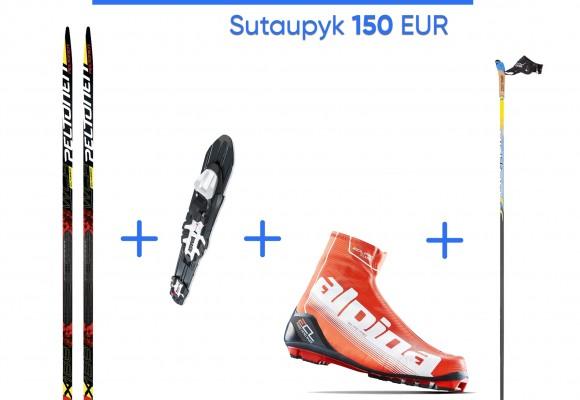 Specialus pasiūlymas profesionalaus slidinėjimo komplekto įsigijimui