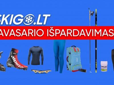 Pavasario išpardavimas! Nuolaidos ir specialūs pasiūlymai įsigyjant slidinėjimo komplektą!