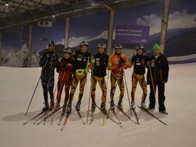 Treniruotės lygumų slidininkams Snow Arenoje