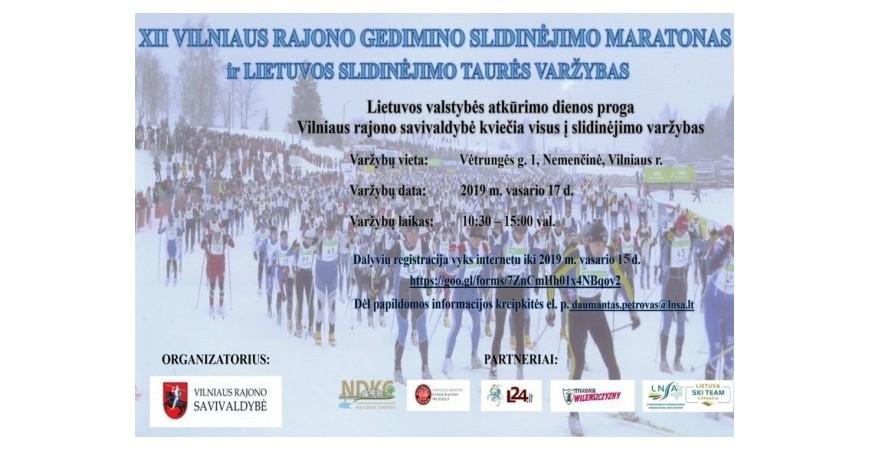 Gedimino slidinėjimo maratonas Nemenčinėje, 2019.02.17